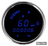 DD - COMPTEUR DIGITAL DAKOTA DIGITAL - PLUG IN - SPORTSTER/DYNA 04UP - LETTRAGE : BLEU / ENTOURAGE : CHROME
