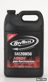 Huile moteur 20W50 - Revtech - MINERALE - Le bidon de 1 gallon (3.8 litres)