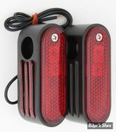Clignos Marker Lights - Ajoures - 3/8 - Noir - dual
