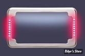 ENTOURAGE DE PLAQUE - CYCLE VISIONS - SLICK SIGNAL LICENSE PLATE - CHROME - CV4611