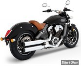 """SILENCIEUX - RINEHART RACING - INDIAN SCOUT - 3.5"""" - CORPS : CHROME / EMBOUT : NOIR"""