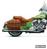 """SILENCIEUX - RINEHART RACING - INDIAN CHIEFTAIN / ROADMASTER  - 4"""" - CORPS : CHROME / EMBOUT : NOIR"""