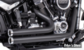 ECHAPPEMENT -  FREEDOM PERFORMANCE - SOFTAIL M8 - INDEPENDANT / SHORTY - NOIR / EMBOUTS  : CHROME