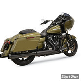"SILENCIEUX - BASSANI - TOURING 17UP MILWAUKEE-EIGHT® - 4"" DNT® MEGAPHONE MUFFLERS - CORPS : NOIR / EMBOUTS : NOIR"