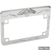 ENTOURAGE DE PLAQUE - FORMAT US 17.5CM X 10CM - EAGLE SPIRIT - CHROME - 86-42630