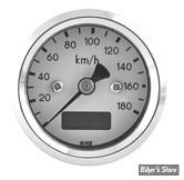 MINI COMPTEUR ELECTRONIQUE MMB - BASIC - KMH - FOND BLANC - CORPS CHROME