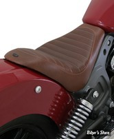 SELLE SOLO - INDIAN SCOUT / SCOUT SIXTY - ROLAND SANDS DESIGN - RSD INDIAN SCOUT SOLO SEAT ENZO - MARRON - 76978