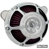 - FILTRE A AIR - PERFORMANCE MACHINE - BT93UP / SOFTAIL 01/15 / DYNA 04/17 / TOURING 02/07 - EVOLUTION & TWINCAM - MAX HP - CHROME