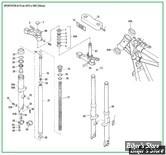 ECLATE N - PIECE N° 00 - ECLATE DES PIECES DE FOURCHE - SPORTSTER / FX / FXR 73/87