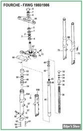 ECLATE N - PIECE N° 00 - ECLATE DES PIECES DE FOURCHE - FXWG 80/86