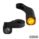 CLIGNOS HEINZ BIKES - NANO SERIES LED TURN SIGNALS  - SOFTAIL M8 18UP - 1 FONCTION - CORPS NOIR / CABOCHON FUME - HBTSN-FL18