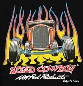 TEE-SHIRT - SPEED COWBOY - HOT ROD PROD - COULEUR : NOIR - TAILLE : 4 / L