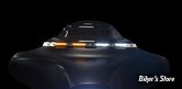 BAGUETTE DE PARE BRISE - - AVEC ECLAIRAGE - TOURING 96/05 - CUSTOM DYNAMICS - WINDSHIELD TRIM DRL - ELECTRA LIGHT TRIM - FINITION : CHROME