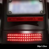 FEU ARRIERE DE GARDE BOUE - FLTR / FLHX 10/13 - CUSTOM DYNAMICS - TRI-BAR REAR FENDER TIP LIGHT - CABOCHON : ROUGE