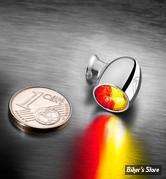FEU AR KELLERMANN - BULLET ATTO DF - Atto DF Turn Signal/Taillight/Brake Light - 3 FONCTIONS D'ECLAIRAGE - FINITION : CHROME - LA PIECE