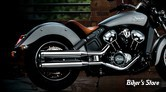 """SILENCIEUX - RINEHART RACING - INDIAN SCOUT - 3.5"""" - CORPS : CHROME / EMBOUT : CHROME"""