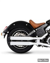 "SILENCIEUX - INDIAN SCOUT 15UP - RINEHART RACING - 3.5"" - CORPS : CHROME / EMBOUT : NOIR"
