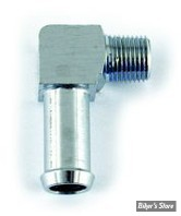 ECLATE K - PIECE N° 04 / 19 - Raccord d huile 1/8-27 NPT - 90° - OEM 26496-75A - chrome