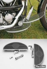 KIT PLATEFORMES CONDUCTEUR - SOFTAIL FX 84UP / DYNA 93/02 / FXWG 80/86 - REGLABLE - Chrome - Solid