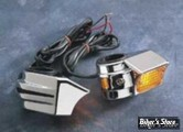 CLIGNOS DE FOURCHE - DECO MARKER LIGHTS - CHROME - EMGO