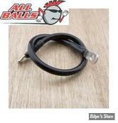 """Cable de batterie - LONGUEUR :  7"""" - All Balls - 4 gauges - Noir"""