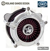 FILTRE A AIR ROLAND SANDS RSD - BT 93UP - CARBU S&S E OU G - TURBINE - CHROME