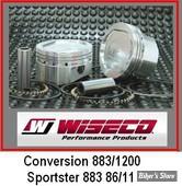 ECLATE G - PIECE N° 19 - kit pistons Wiseco Sportster 883 EN 1200 86/11 - 8.5:1 - +0.000