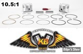 ECLATE G - PIECE N° 19 - Kit pistons Keith Black (KB) - BigTwin Evolution 84/99 1340cc - 10.5:1 - +0.010