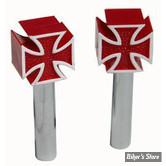 Loquets de porte Iron Cross rouge