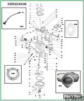PIÈCE N° 00 - Carburateur Mikuni HSR42/45/48
