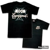 TEE-SHIRT - MOON - MOON EQUIPPED CROSS - COULEUR : NOIR - TAILLE 3 / M