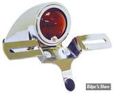 FEU ARRIERE CHOPPER / HOT ROD - SPARTO TYPE - ampoule avec support de plaque - chrome