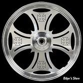 "16"" x 3.00 Roue Chrome Horse en aluminium CNC "" Maltese Engraved"","