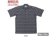 CHEMISE - MOON - REYN SPOONER / MOON EQUIPPED - 20TH ANNIVERSARY - COULEUR : NOIR - TAILLE L