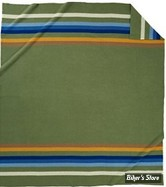 "COUVERTURE DE CAMPS - PENDLETON - NATIONAL PARK - ROCKY MOUNTAIN - COULEUR : VERT / BLEU / JAUNE - 90"" X 80"""