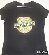 TEE-SHIRT - RACE GEAR S - POWER & SPEED - COULEUR : NOIR - TAILLE : 5 / XL