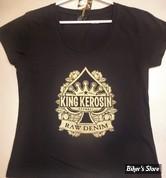 TEE-SHIRT - KING KEROSIN - RAW DENIM - COULEUR : NOIR - TAILLE : 5 / XL