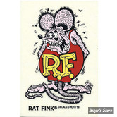AUTOCOLLANT - RAT FINK - ROSE