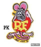 "ECUSSON/PATCH - RAT FINK - TAILLE : 3.54 "" X 2.56 "" ( 9 cm X 6.5 cm )"