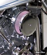 - FILTRE A AIR - K&N - STREET METAL HIGH FLOW AIR INTAKE - SOFTAIL 00/15 / FLT 99/07 & DYNA 99/17 - HAMMER - CHROME - RK-3933