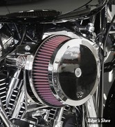 - FILTRE A AIR - K&N -  MILWAUKEE EIGHT TOURING 17UP / SOFTAIL 18UP - K&N STREET METAL HIGH-FLOW AIR INTAKE HAMMER - CHROME - RK-3954