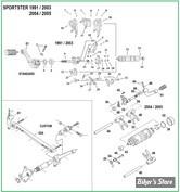 DOC A / PIÈCE N° 00 - Eclate de PIECES DE SELECTION - Sportster de 1991 à 2005.