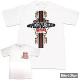 TEE-SHIRT - MOON - MOONEYES ROD AND SURF - COULEUR : BLANC - TAILLE 3 / M