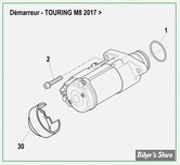 ECLATE AM8 - PIECES DE DEMARREUR - TOURING MILWAUKEE-EIGHT® 17UP