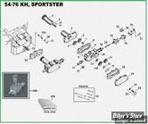 ECLATE K - PIECE N° 00 - ECLATE PIECES DE POMPE A HUILE - SPORTSTER 52/76