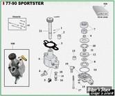 ECLATE K - PIECE N° 00 - ECLATE PIECES DE POMPE A HUILE - SPORTSTER 77/90