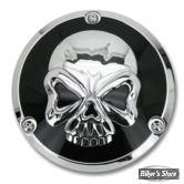 ECLATE I - PIECE N° 25 - COUVERCLE D EMBRAYAGE - BIG TWIN 70/99 - SKULL - NOIR / CHROME