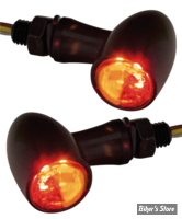 CLIGNOS CUSTOM CHROME - PARADOX - 2 FONCTIONS - LED - NOIR - CABOCHON FUME
