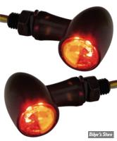 CLIGNOS CUSTOM CHROME - PARADOX - 2 FONCTIONS - LED - NOIR - CABOCHON CLAIR
