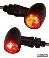 CLIGNOS CUSTOM CHROME - PARADOX - 3 FONCTIONS - LED - NOIR - CABOCHON CLAIR